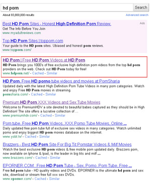 Page 1 Google Rankings